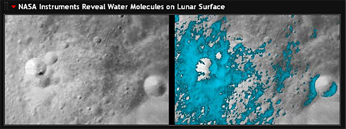 NASA Instruments Reveal Water Molecules on Lunar Surface